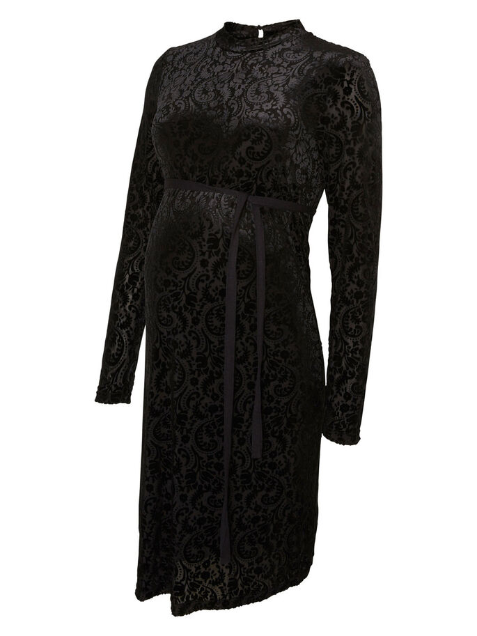 VELOURS ROBE GROSSESSE, Black, large