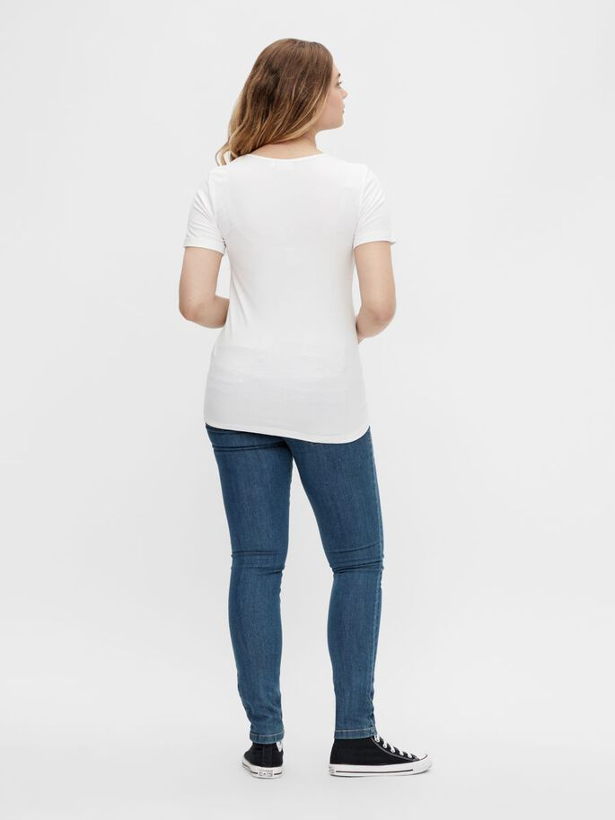 PCMLIL UMSTANDS-T-SHIRT, Bright White, large