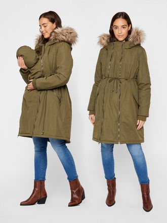 PADDED WINDPROOF 3-IN-1 MATERNITY PARKA
