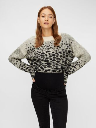 CROPPED JAQUARD MATERNITY PULLOVER