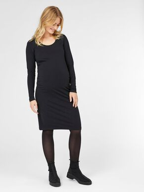 LONG SLEEVED MATERNITY DRESS