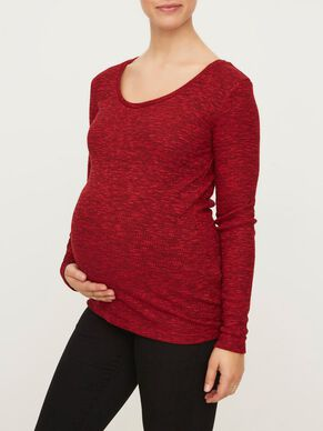 RIB KNITTED MATERNITY TOP