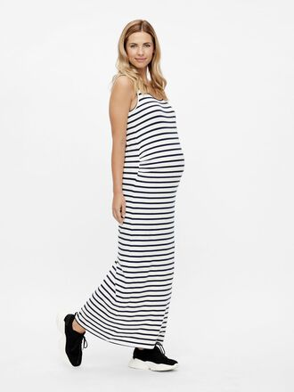 STRIPED MATERNITY MAXI DRESS