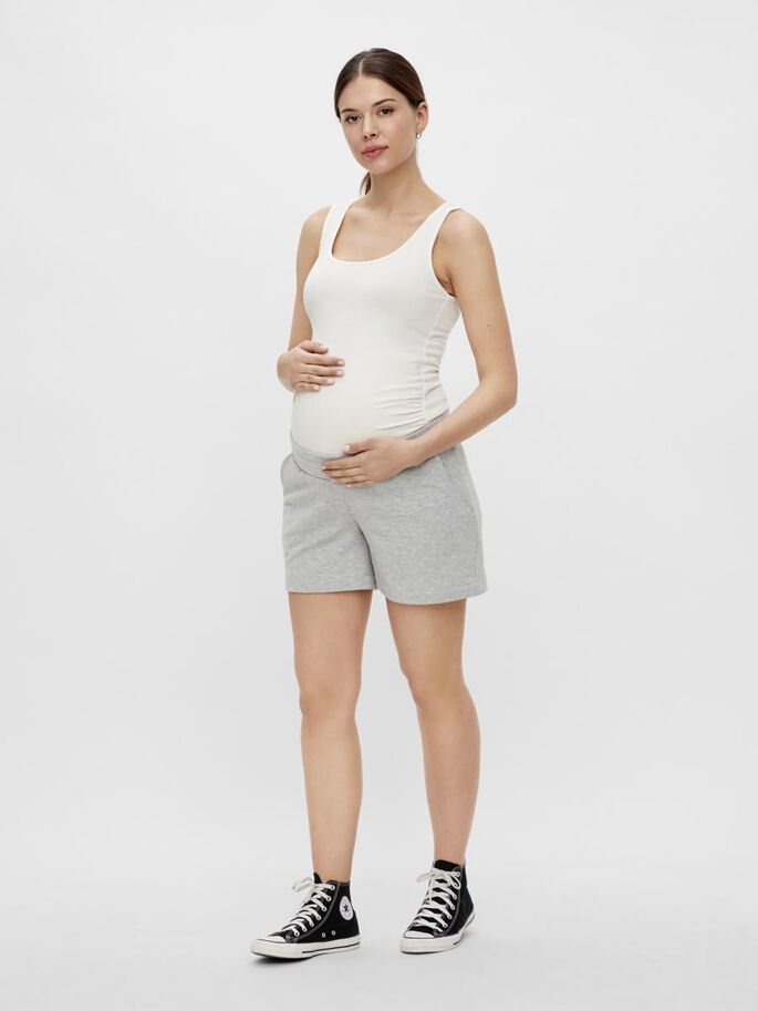 PCMLIOLA MATERNITY SHORTS, Light Grey Melange, large