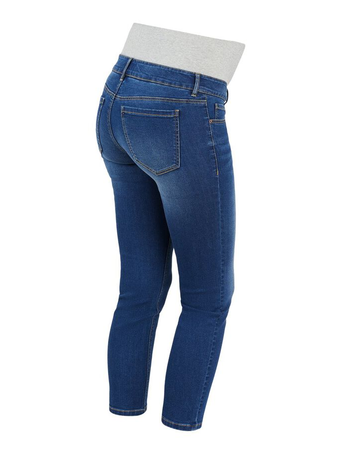 PCMLILA JEAN SLIM FIT DE GROSSESSE, Dark Blue Denim, large