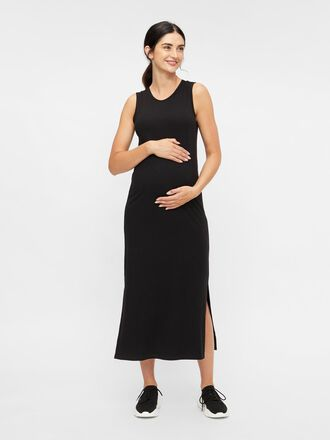 SLEEVELESS SLIT MATERNITY DRESS