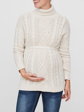 KNITTED MATERNITY BLOUSE, LONG SLEEVED