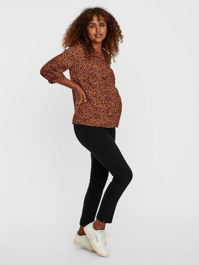 VMMTANIA UMSTANDSBLUSE, Tobacco Brown, large