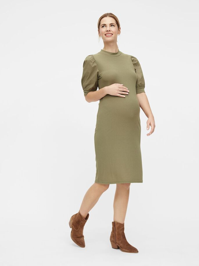 MLFREJA MATERNITY DRESS, Deep Lichen Green, large